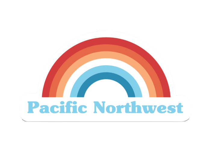 PNW Retro Rainbow Sticker