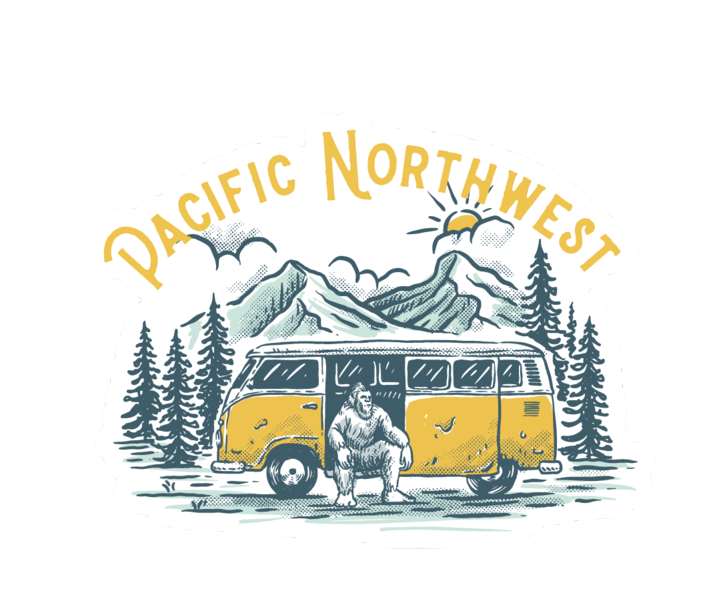 PNW Sasquatch Sticker