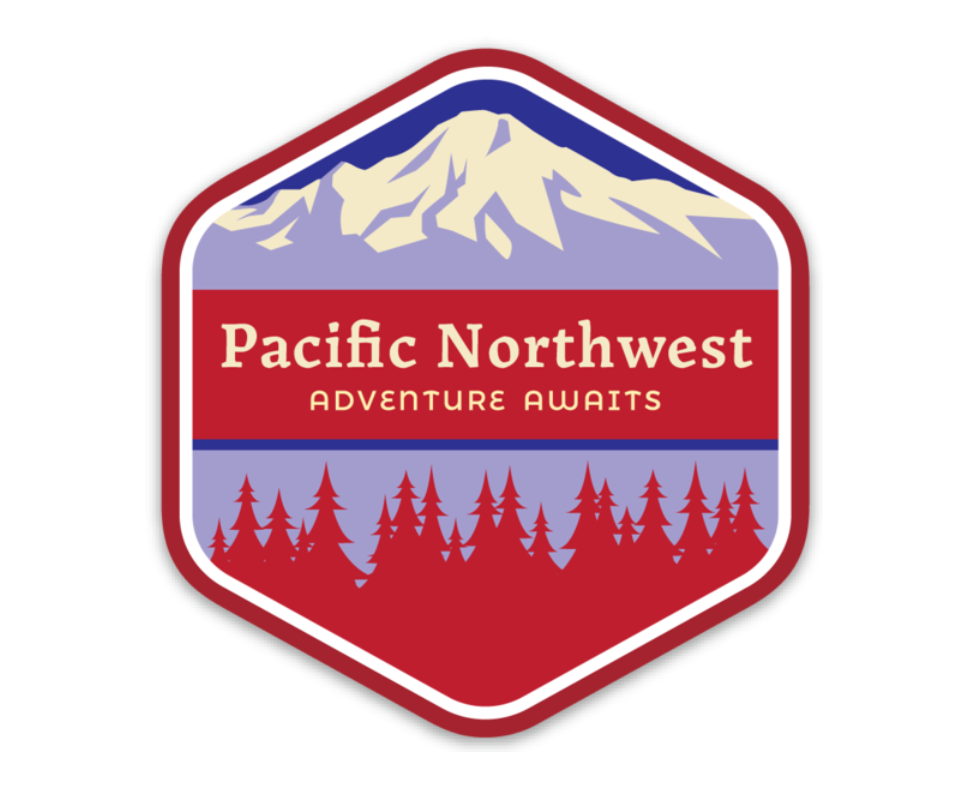 PNW Sticker Red