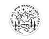 Not All Who Wander Sticker Black