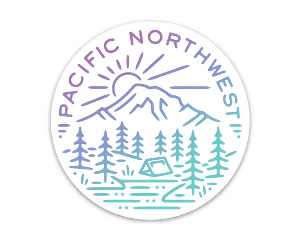 PNW Sticker Purple