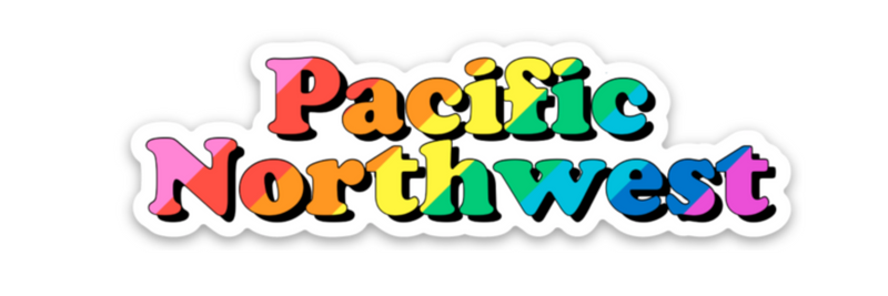 PNW Rainbow Sticker
