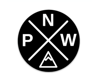 PNW Sticker Black