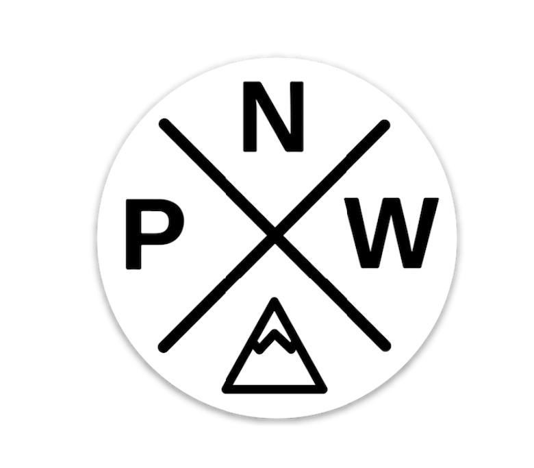 PNW Sticker White