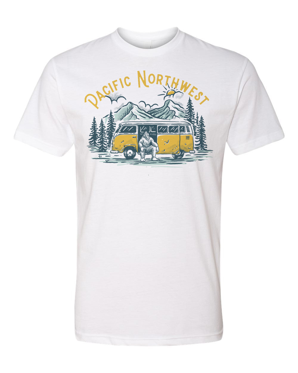 Sasquatch Bus T-Shirt White