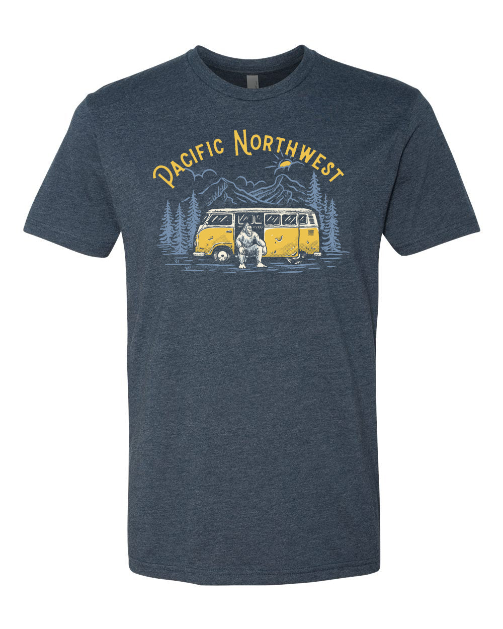The Sasquatch Bus T-Shirt Navy