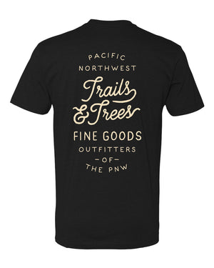 Trails & Trees T-Shirt Black