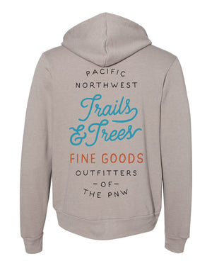 Trails & Trees Zip-Up Hoodie Sand