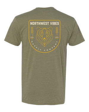 PNW Bear T-Shirt Green