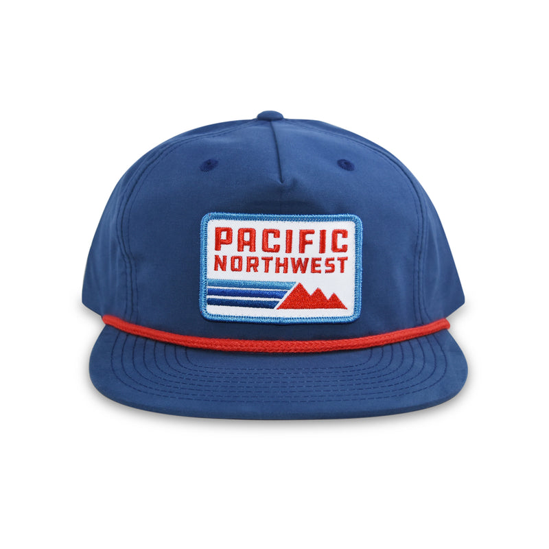 Retro Five-Panel Snapback Navy