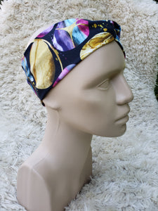 gold tones turban headband