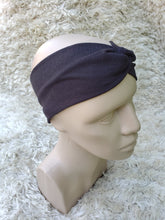 Load image into Gallery viewer, Black turban headband