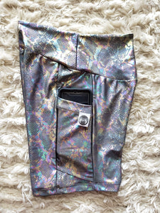 Holographic snake print yoga set