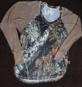 Over-sized Mossy oak raglan