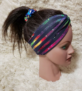 Gallaxy stripe turban style headband