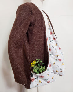 Chocolate and bees cardigan