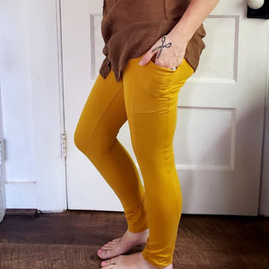 Organic Golden Hemp Leggings