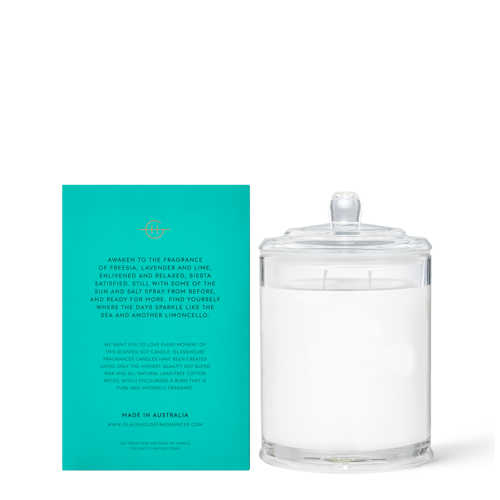 Glasshouse Lost in Amalfi - Sea Mist Soy Candle