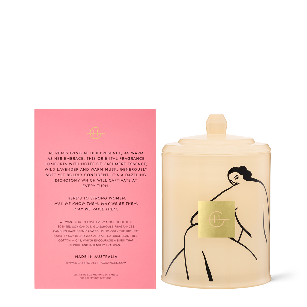Glasshouse Ode to Women - Cashmere & Wild Lavender Triple Scented Soy Candle 380g