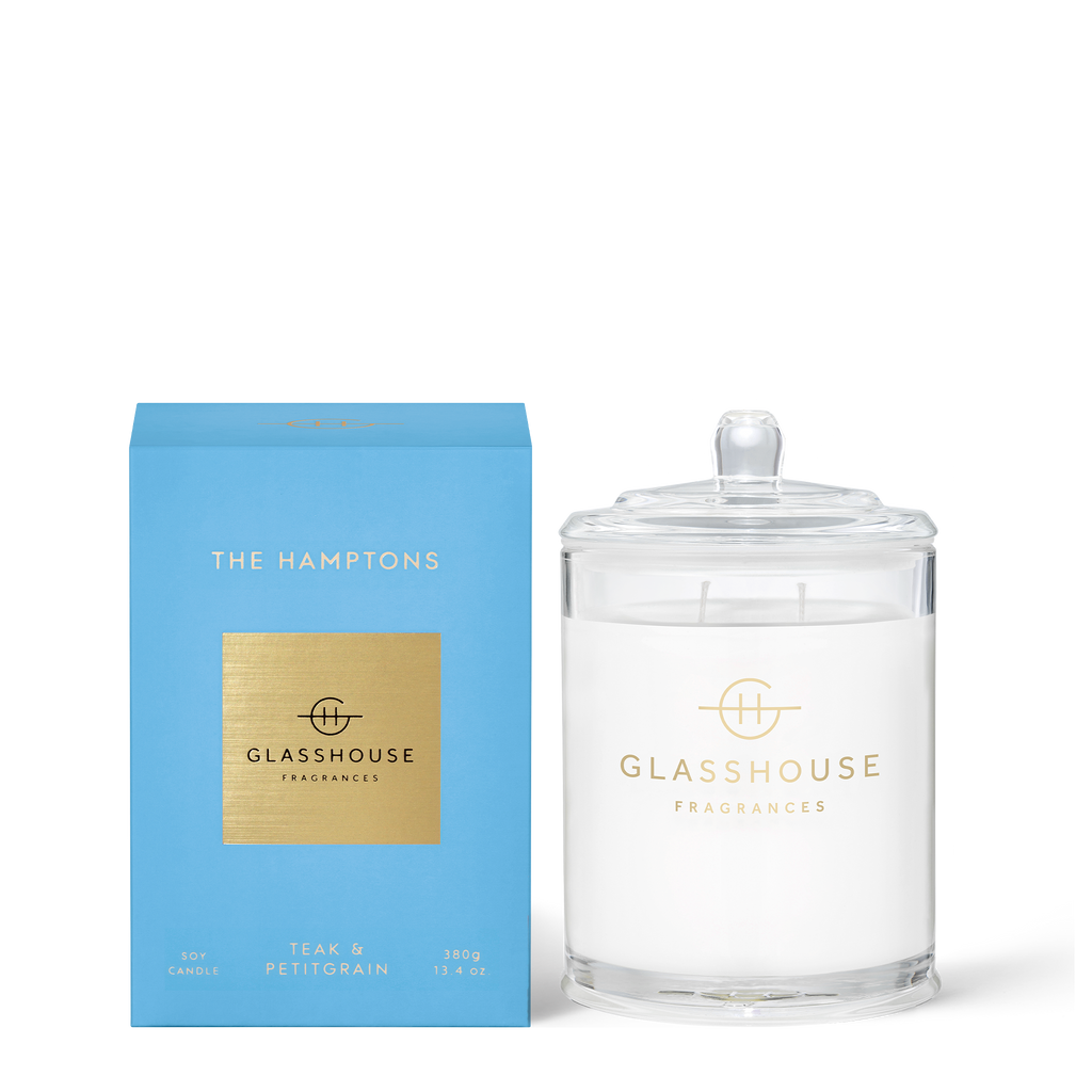 Glasshouse The Hamptons - Teak & Petitgrain 380g Soy Candle