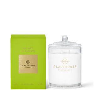 Glasshouse We Met in Saigon - Lemongrass Triple Scented Soy Candle Front