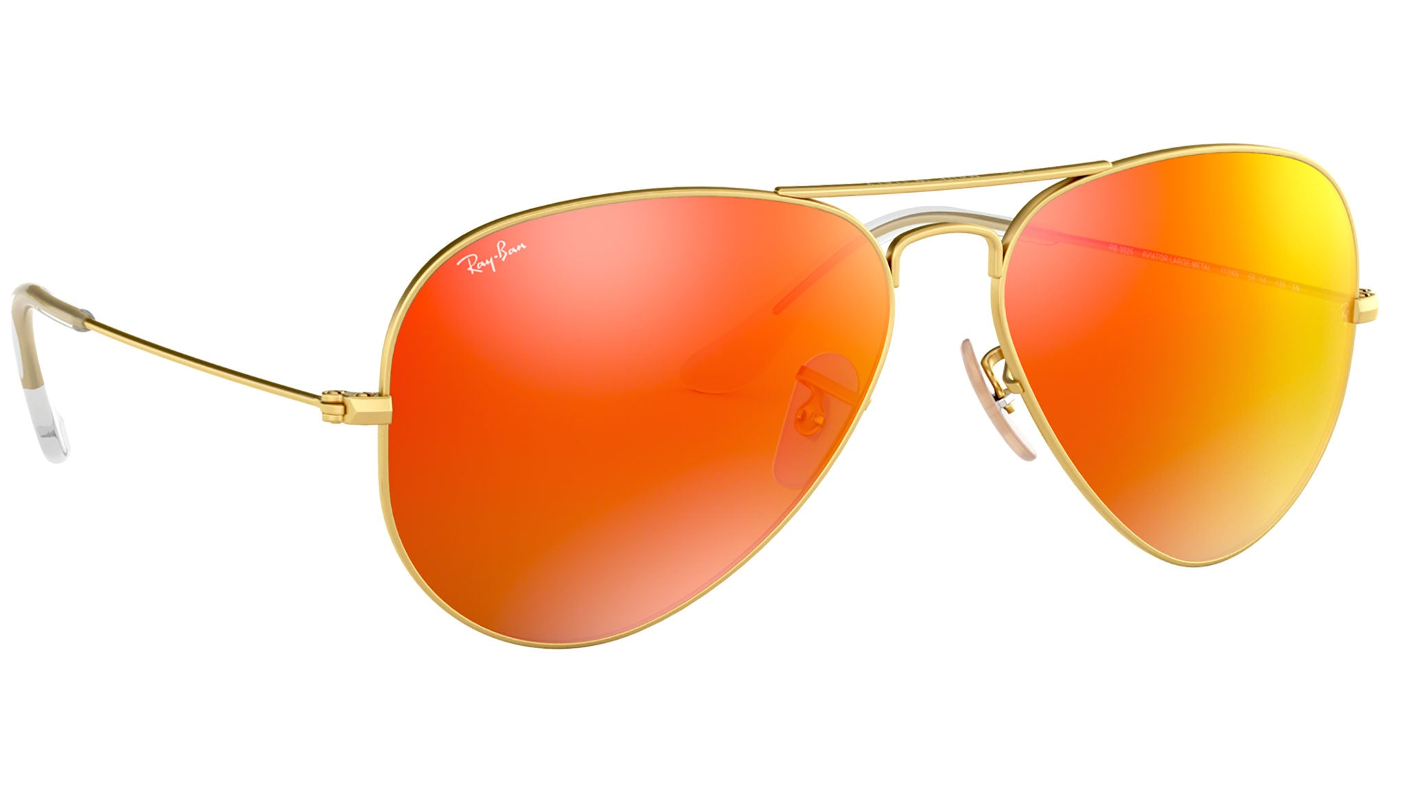 Aviator Flash Lenses RB3025 gold metal orange