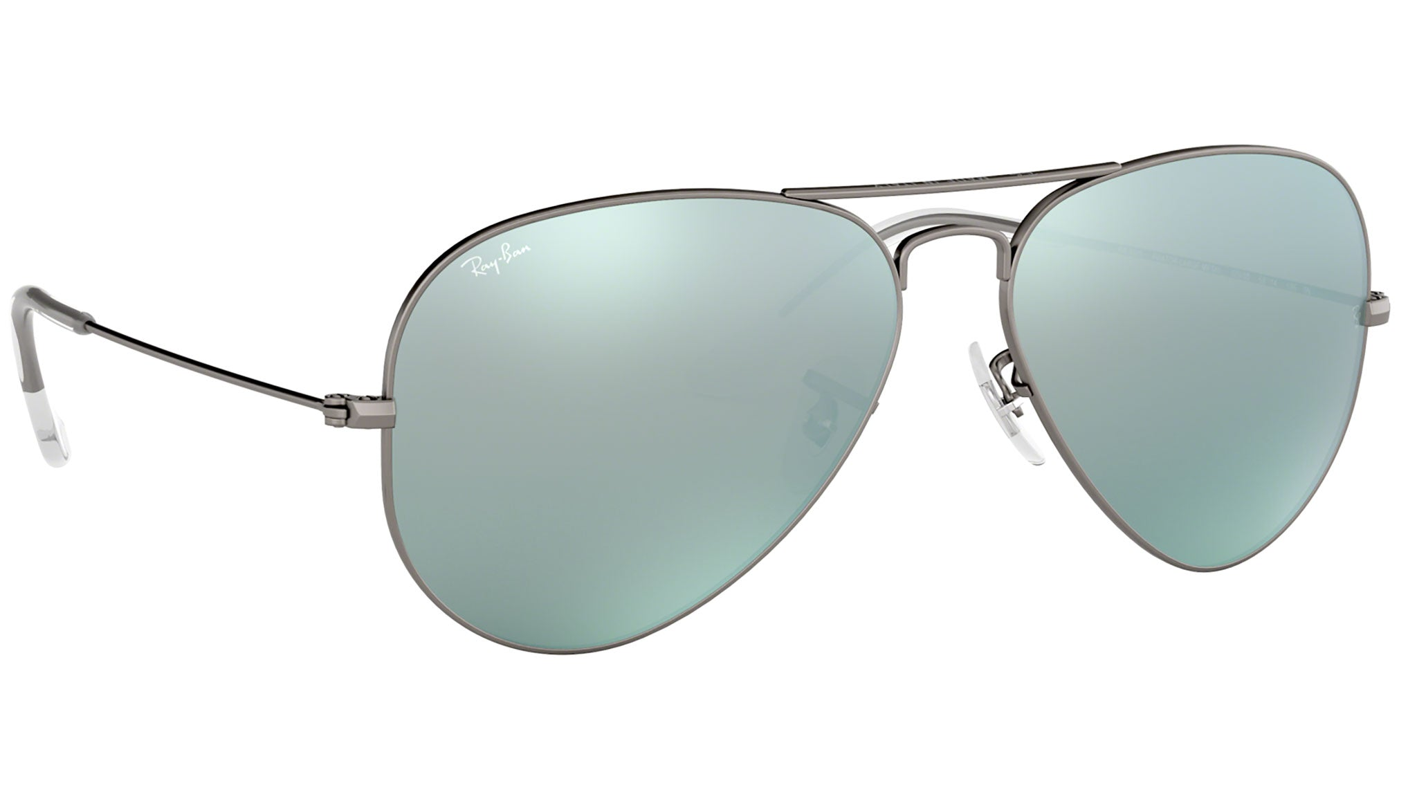 Aviator Flash Lenses RB3025 silver flash