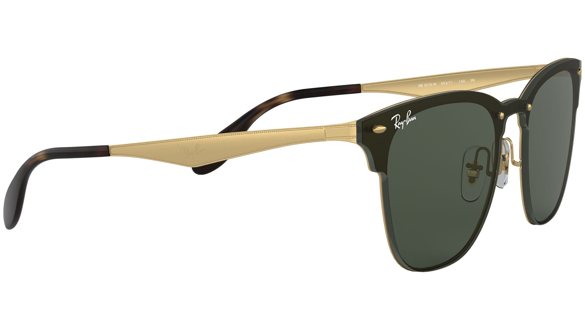 Blaze Clubmaster RB3576N black polished gold
