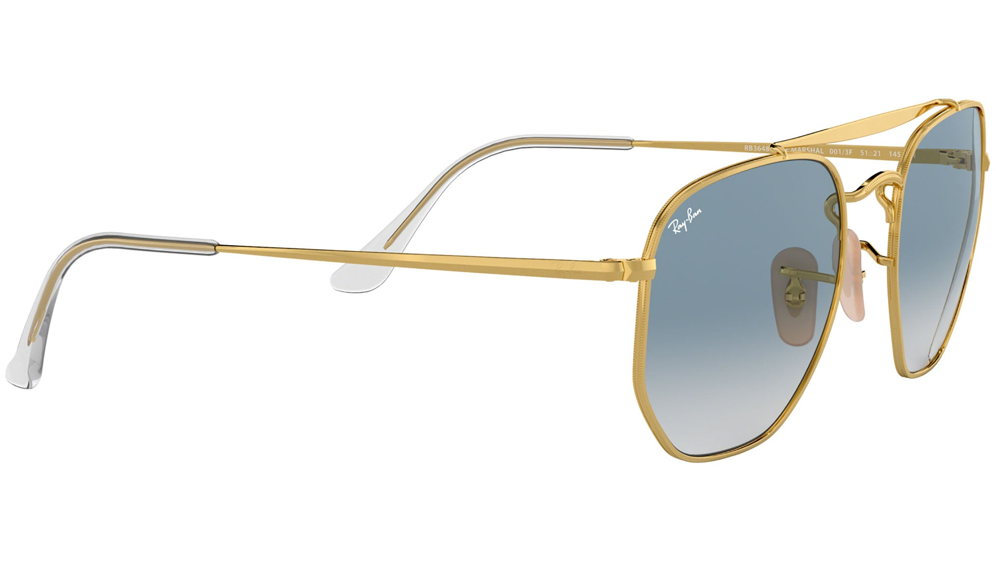 The Marshal RB3648 gold clear gradient blue