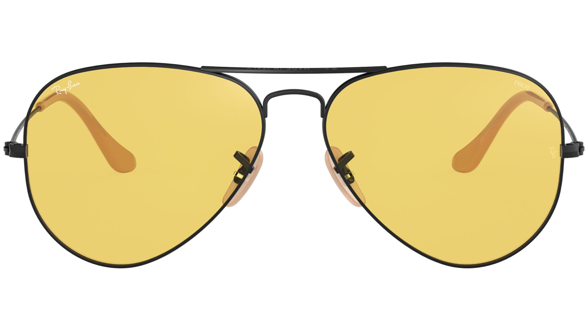 Aviator Washed Evolve RB3025 black and yellow