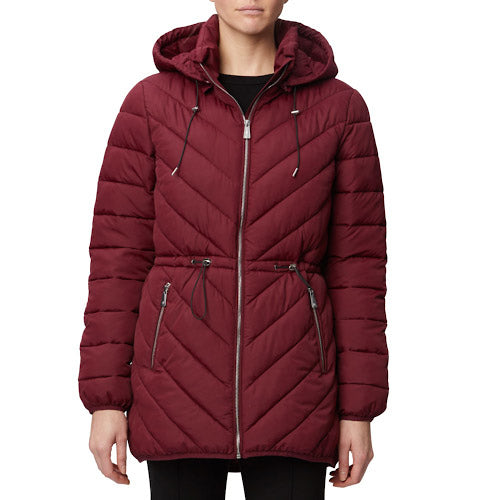 Chevron Quilted Thermoluxe Filled Anorak