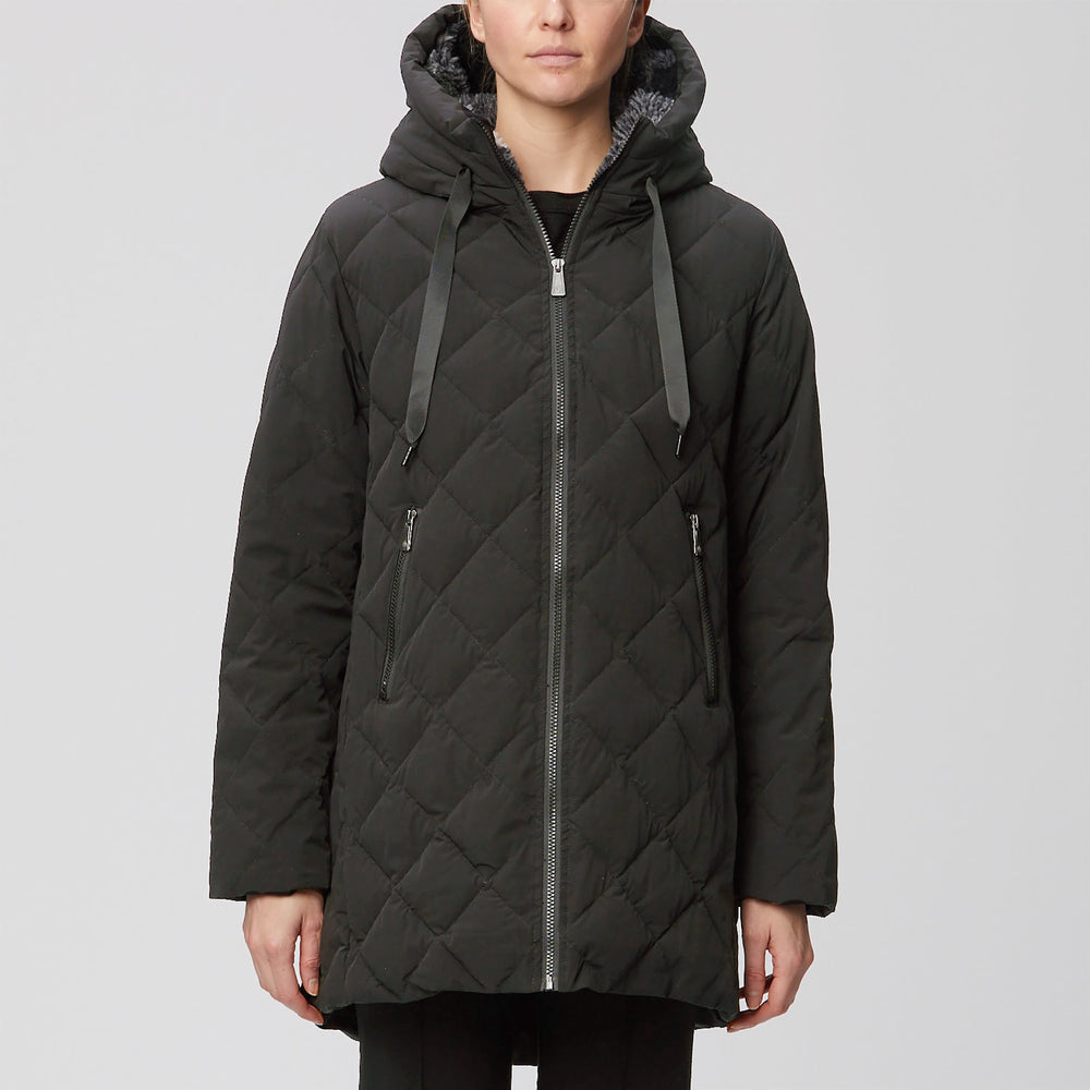 Diamond Quilted Thermoluxe Filled Hooded Walker
