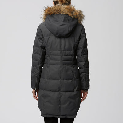 Oxford Quilted Thermoluxe Filled Faux Fur Hooded Parka
