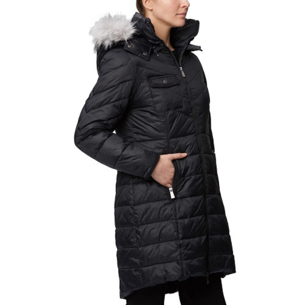 Fancy Quilted Nylon Cire Thermoluxe Filled Parka