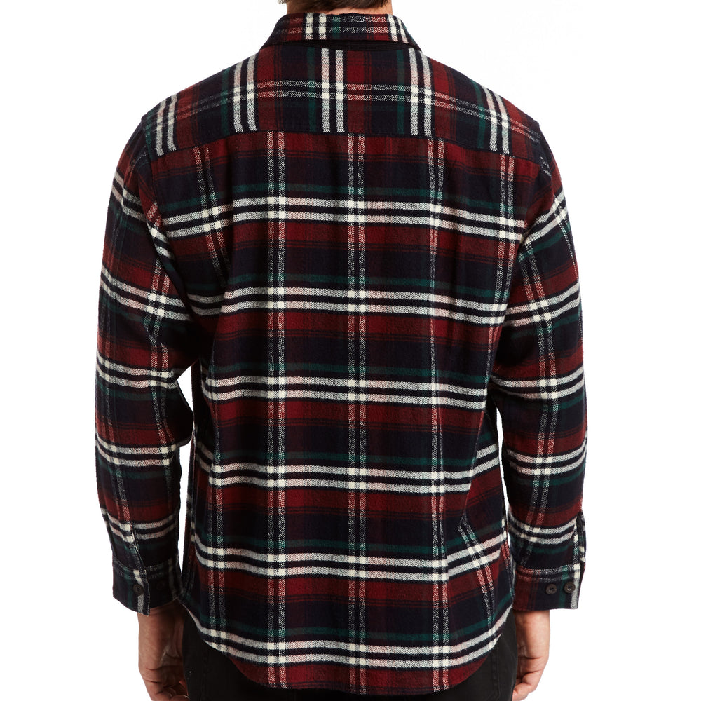 Heavyweight Merlot Plaid Flannel Shirt Jacket