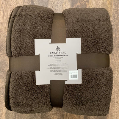 Brushed Sherpa Reversible Throw