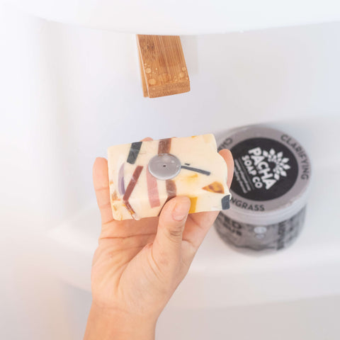 Image of person using bar soap