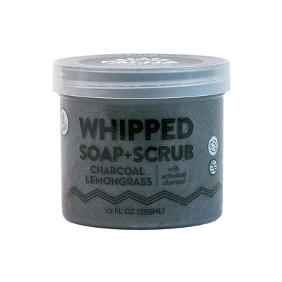 Charcoal Lemongrass Whipped Soap + Scrub