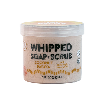 Coconut Papaya Whipped Soap + Scrub