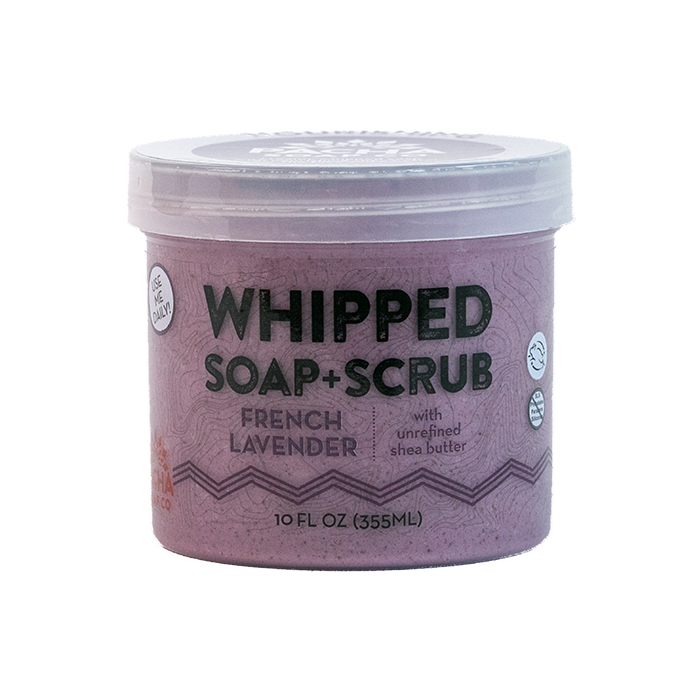 French Lavender Whipped Soap + Scrub