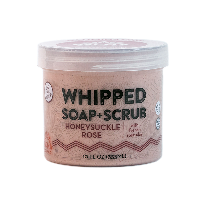 Honeysuckle Rose Whipped Soap + Scrub