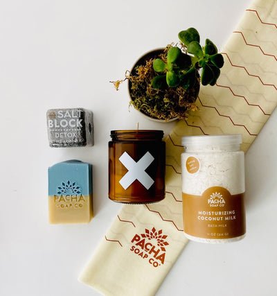 Wax Buffalo & Pacha Soap Co. Stay-Cation Bath Set