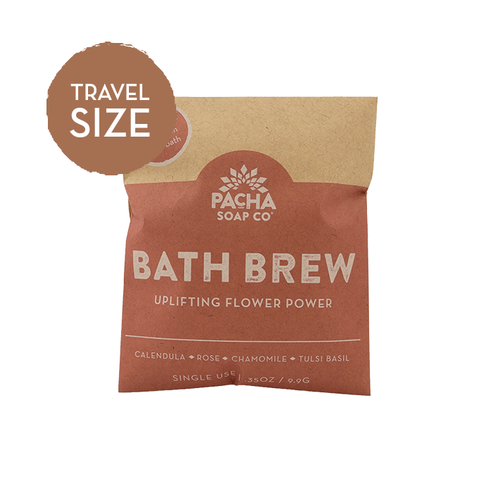 Uplifting Flower Power Travel Size Bath Brew .35 oz
