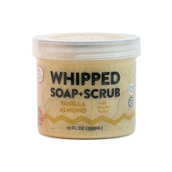 Vanilla Almond Whipped Soap + Scrub