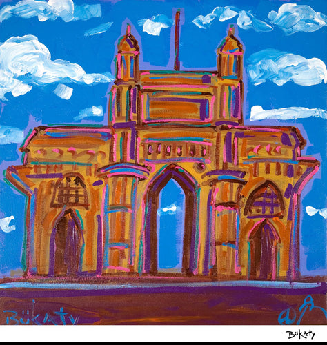 Gateway to India - Painting by Artist John Bukaty