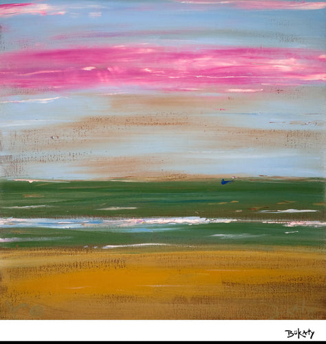 Hazy Sunset - Print by Artist John Bukaty