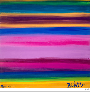 Rhythm of Color - Print by Artist John Bukaty