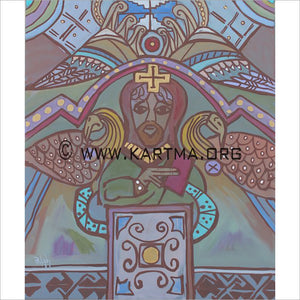 Book of Kells - print by Artist John Bukaty