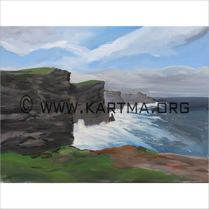 Cliffs of Moher - print by Artist John Bukaty