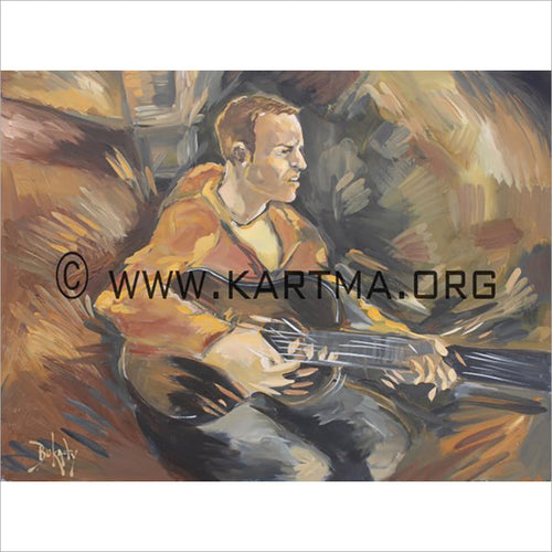 Colm The Musician - print by Artist John Bukaty
